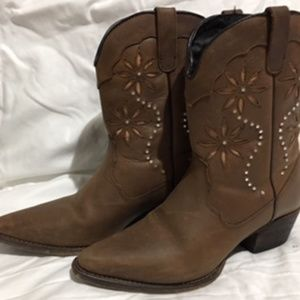 Rhinestone Flower Boots